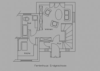 Ferienhaus Buten – Grundriss Ergeschoss