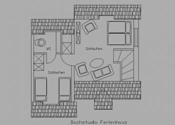 Ferienhaus Buten – Grundriss Obergeschoss